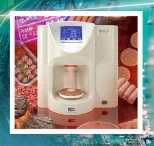 meat analyzer with border