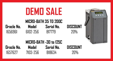 Fluke Demo sale April 2013